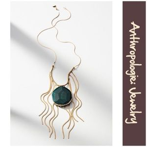 """Anthro """"Forest Agate Pendant Necklace"""" by Serefina"""